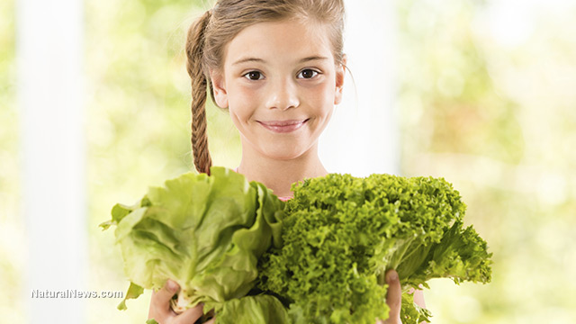 Child with Lettuce